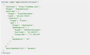 example of schema data